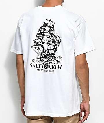 Salty Crew Weather Helm camiseta blanca