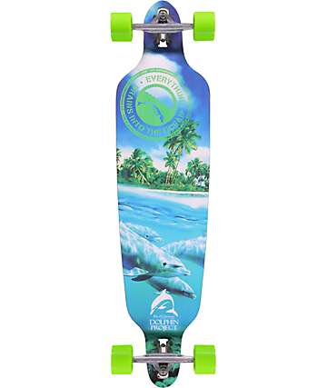 "San Clemente Everything Drains Dolphin 39.75"" Longboard Complete"