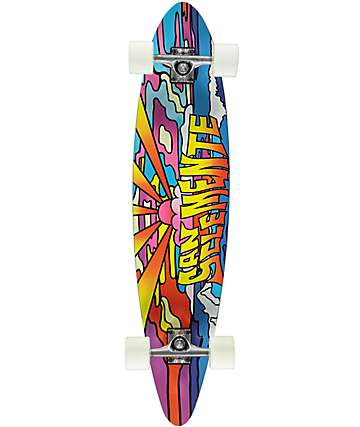 "San Clemente Stained Glass 38"" Pintail Longboard Complete"