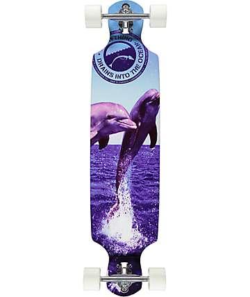 "San Clemente The Joy 36"" Drop Through Longboard Complete"