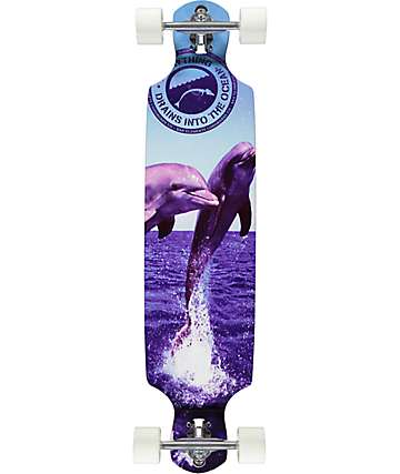 "San Clemente The Joy 39"" drop through longboard completo"