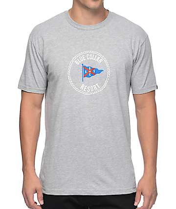 San Onofre Surf Co Blue Collar Heather Grey T-Shirt