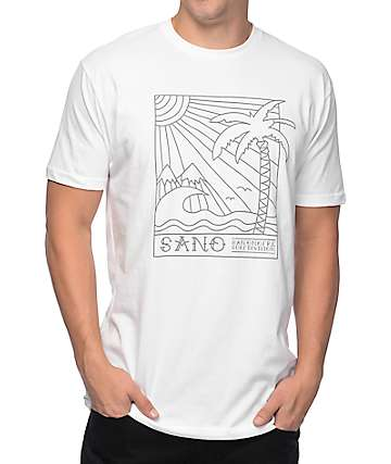 San Onofre Surf Co Palms White T-Shirt