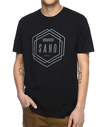 San Onofre Surf Co. Tribe Black T-Shirt