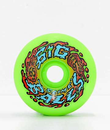 Santa Cruz Big Balls 65mm Neon Green Cruiser Wheels