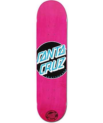 "Santa Cruz Classic Dot Pink 7.7"" Skateboard Deck"