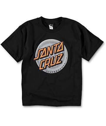 Santa Cruz Coiled Dot Black Youth T-Shirt