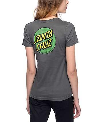 Santa Cruz Coiled Dot camiseta en color carbón