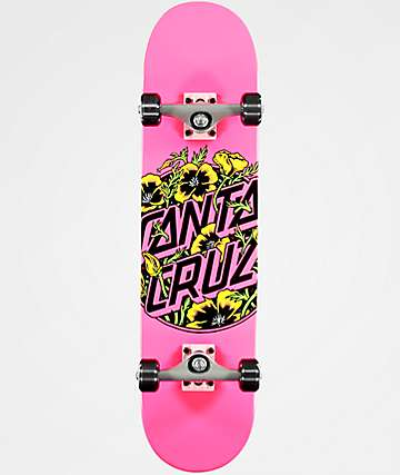 "Santa Cruz Colored Poppy 7.75"" completo de skate"