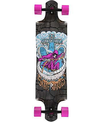 "Santa Cruz Death Pool Drop Through 38.375""  Longboard Complete"