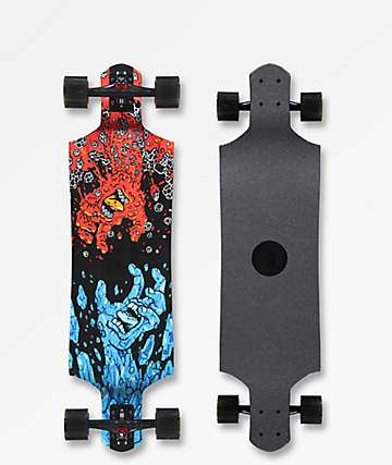 "Santa Cruz Fire & Ice 36"" micro drop down longboard completo"