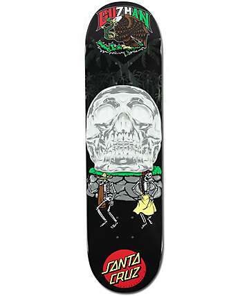 "Santa Cruz Guzman Dance With Death 8.2"" Skateboard Deck"