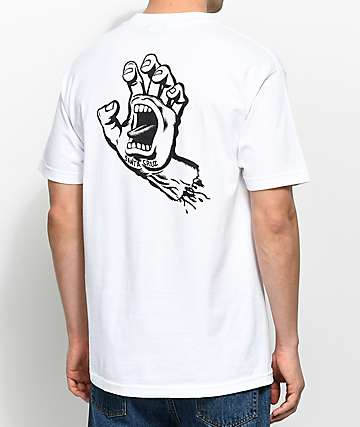 Santa Cruz Hand White T-Shirt