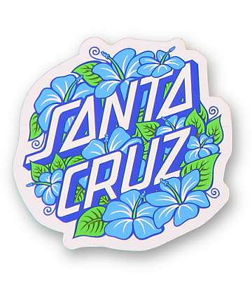 Santa Cruz Hibiscus Dot Sticker