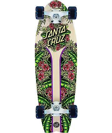 "Santa Cruz Island Dot Shark 27.7"" tabla de skate cruiser completo"