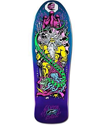 "Santa Cruz Jessee Neptune 10.14"" Metallic Skateboard Deck"