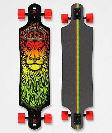 "Santa Cruz Lion God 40"" longboard drop through completo"