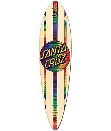 """Santa Cruz Mahaka Rainbow 39"""" Pintail Longboard Deck"""