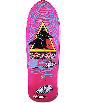 "Santa Cruz Natas Kitten 9.89"" Metallic Skateboard Deck"
