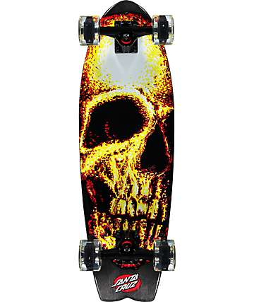 "Santa Cruz Night Creeper Shark 27.7"" Cruiser Complete Skateboard"