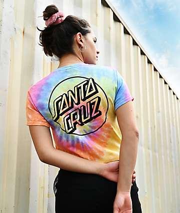 Santa Cruz Opus Dot Eternity camiseta con efecto tie dye