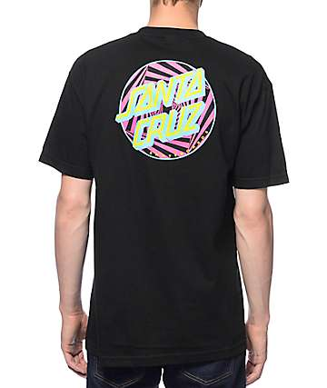 Santa Cruz Party Dot Black T-Shirt