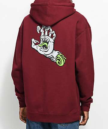 Santa Cruz Phillips Hand Red Hoodie