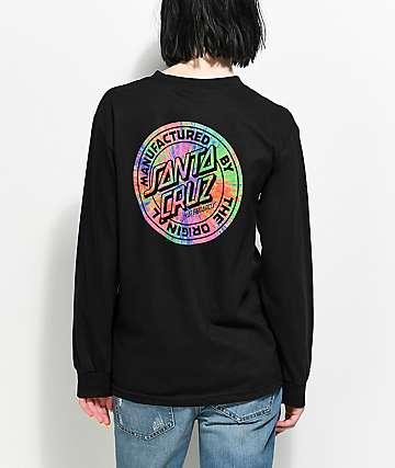 Santa Cruz Prisma Dot camiseta negra de manga larga