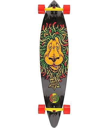"Santa Cruz Rasta Lion Pintail 43.5"" Longboard Complete"