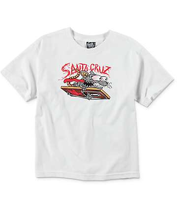 Santa Cruz Rat Slasher Youth White T-Shirt
