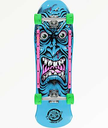 "Santa Cruz Roskopp Face 9.5"" Cruiser Complete Skateboard"