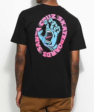 Santa Cruz Scream Black T-Shirt