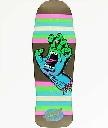 "Santa Cruz Screaming Hand 10.34"" Neon Skateboard Deck"