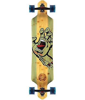 "Santa Cruz Screaming Hand Bamboo 41"" Drop Through Longboard Complete"