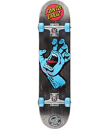 "Santa Cruz Screaming Hand Black 7.5"" tabla de skate completo"