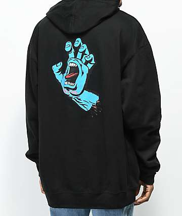 Santa Cruz Screaming Hand Black Hoodie