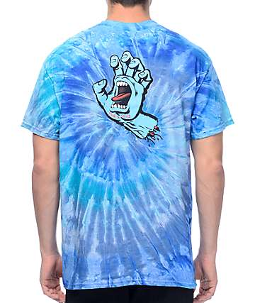 Santa Cruz Screaming Hand Blue Jerry T-Shirt
