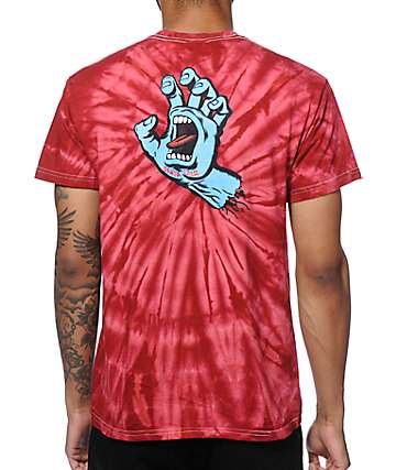Santa Cruz Screaming Hand Tie Dye T-Shirt