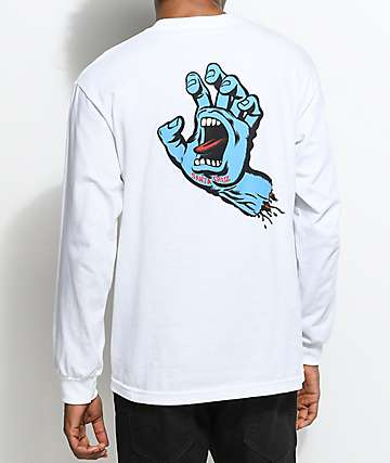 Santa Cruz Screaming Hand White Long Sleeve T-Shirt