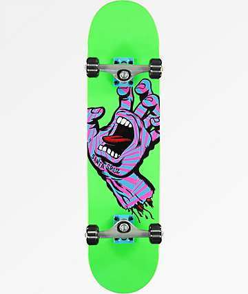 "Santa Cruz Screaming Party Hand 7.75"" Skateboard Complete"