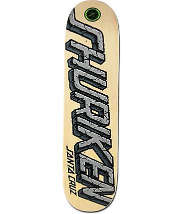 "Santa Cruz Shuriken Stone Strip P2 8.1""  Skateboard Deck"