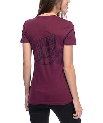 Santa Cruz Sketchy Dot Maroon T-Shirt