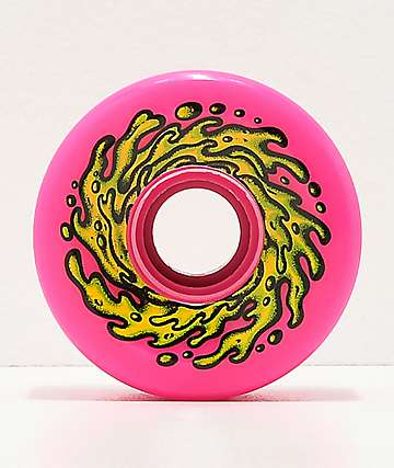 Santa Cruz Slime Balls 66mm Neon Pink Cruiser Wheels