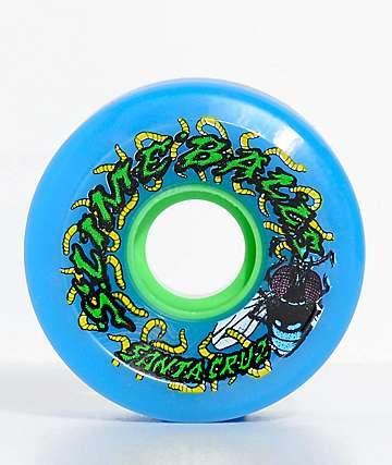 Santa Cruz Slime Balls Maggots 60mm Blue Cruiser Wheels