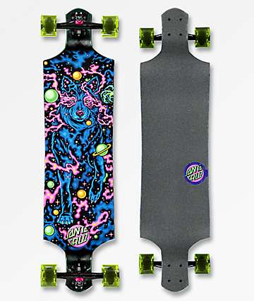 "Santa Cruz Space Wolf 40"" Drop Down Longboard Complete"