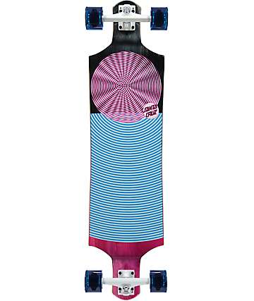 "Santa Cruz Spiral Dot 40"" drop down longboard completo"