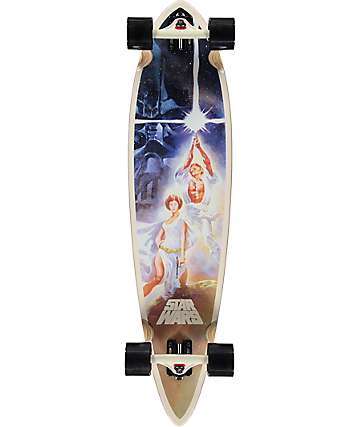 "Santa Cruz Star Wars A New Hope 39"" Pintail Longboard Complete"