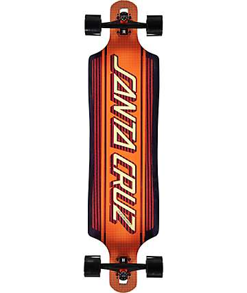 "Santa Cruz Strip Inlay Drop Through 40""  Longboard Complete"