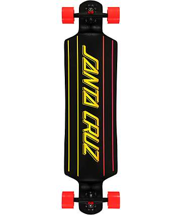 "Santa Cruz Stripe Faded 40"" Drop Down Longboard Complete"