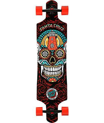 "Santa Cruz Sugar Skull 40""  Drop Through Longboard Complete"